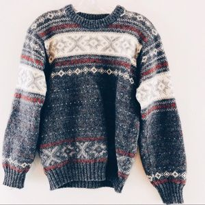 Vintage Janus of Norway Wool Fair Isle Sweater